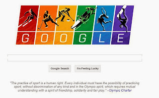 GOOGLE ACCENTS GAY FLAG FOR SOCHI ...