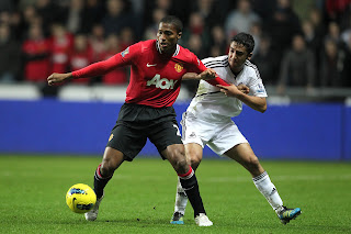 Swansea City Vs Mannchester United Antonio Valencia