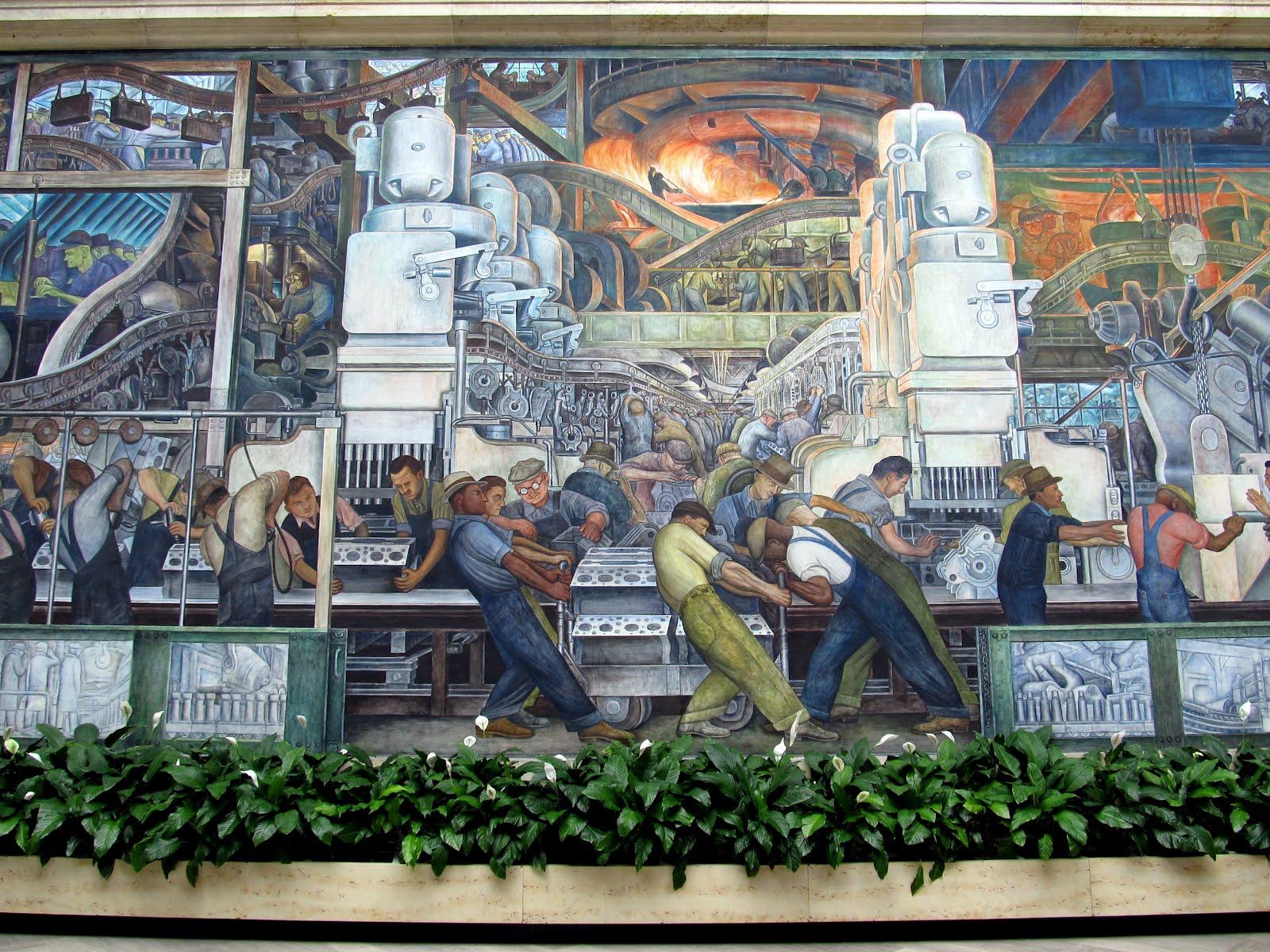 The marmelade gypsy primary blog diamonds in the desert for Detroit mural factory