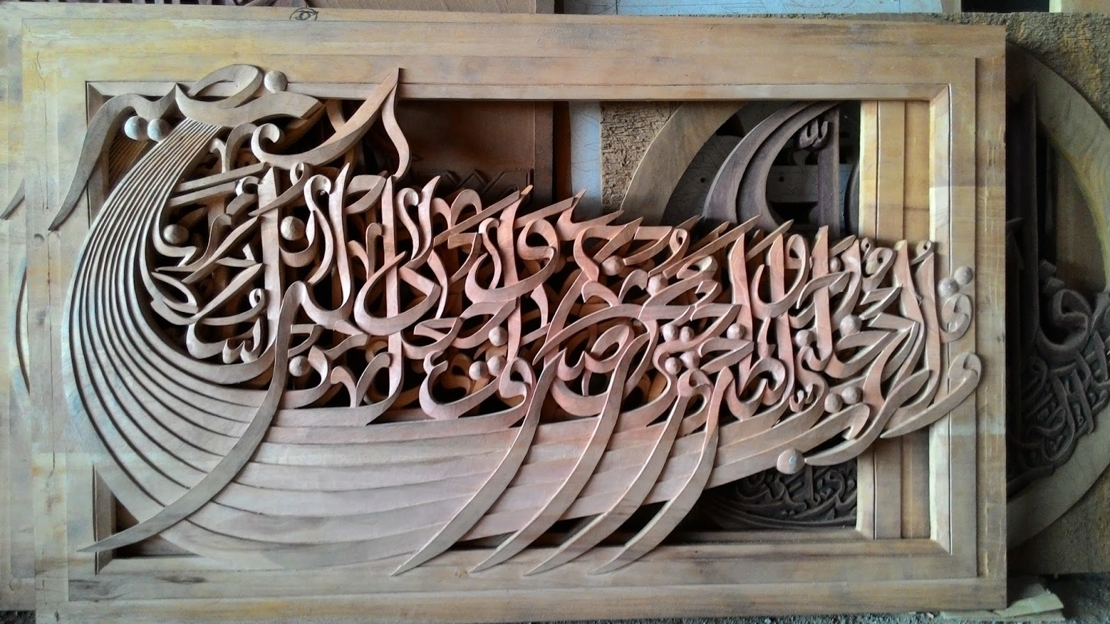 Calligraphy wood carving indonesia furniture news