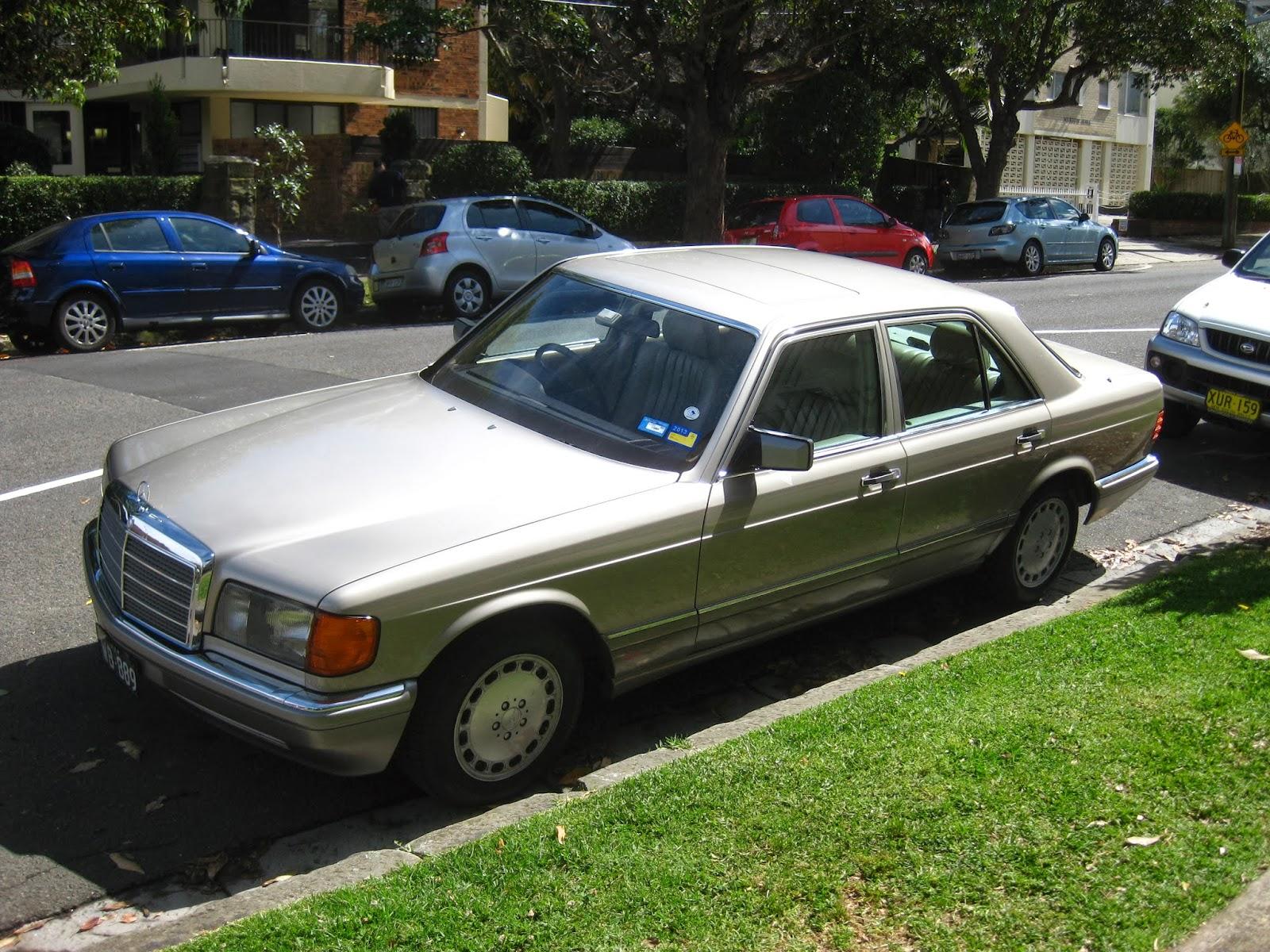 Aussie old parked cars 1987 mercedes benz w126 300 se for 1987 mercedes benz