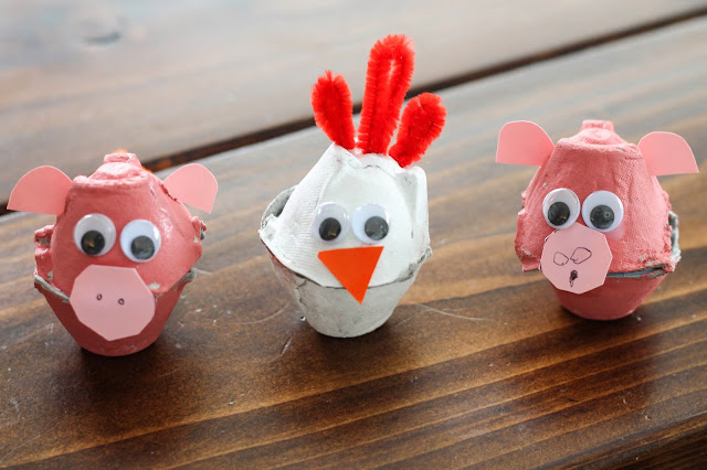 Egg carton animal craft design ideas craft art ideas for Egg carton room
