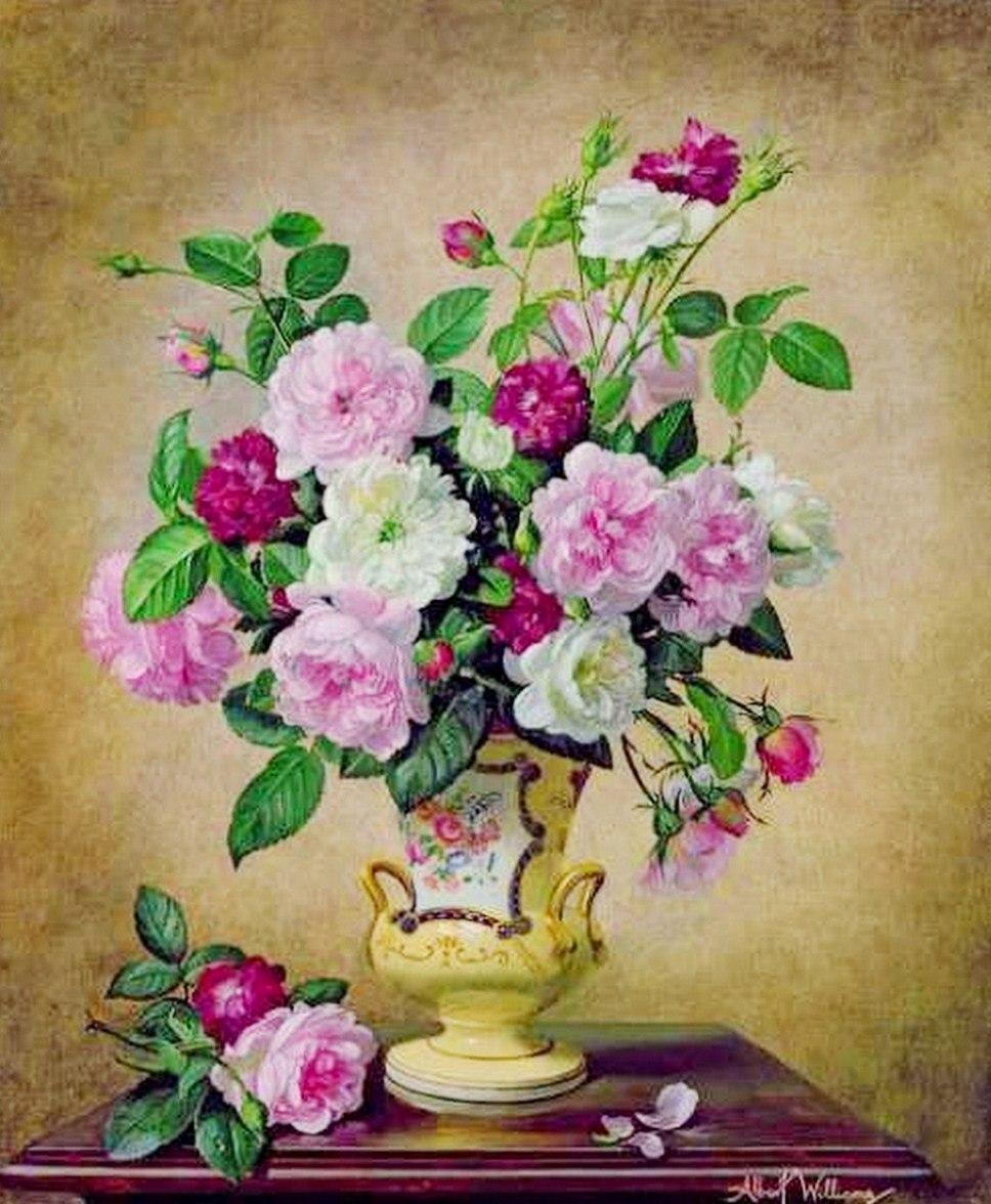 Cuadros modernos pinturas y dibujos bodegones de flores - Cuadros de pintura ...