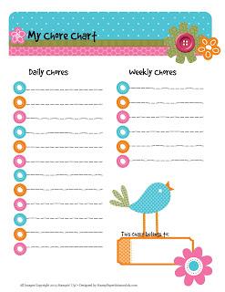 printable chore chart