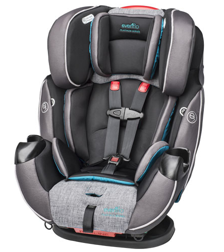 evenflo symphony dlx platinum all in one convertible car seat annmarie john. Black Bedroom Furniture Sets. Home Design Ideas