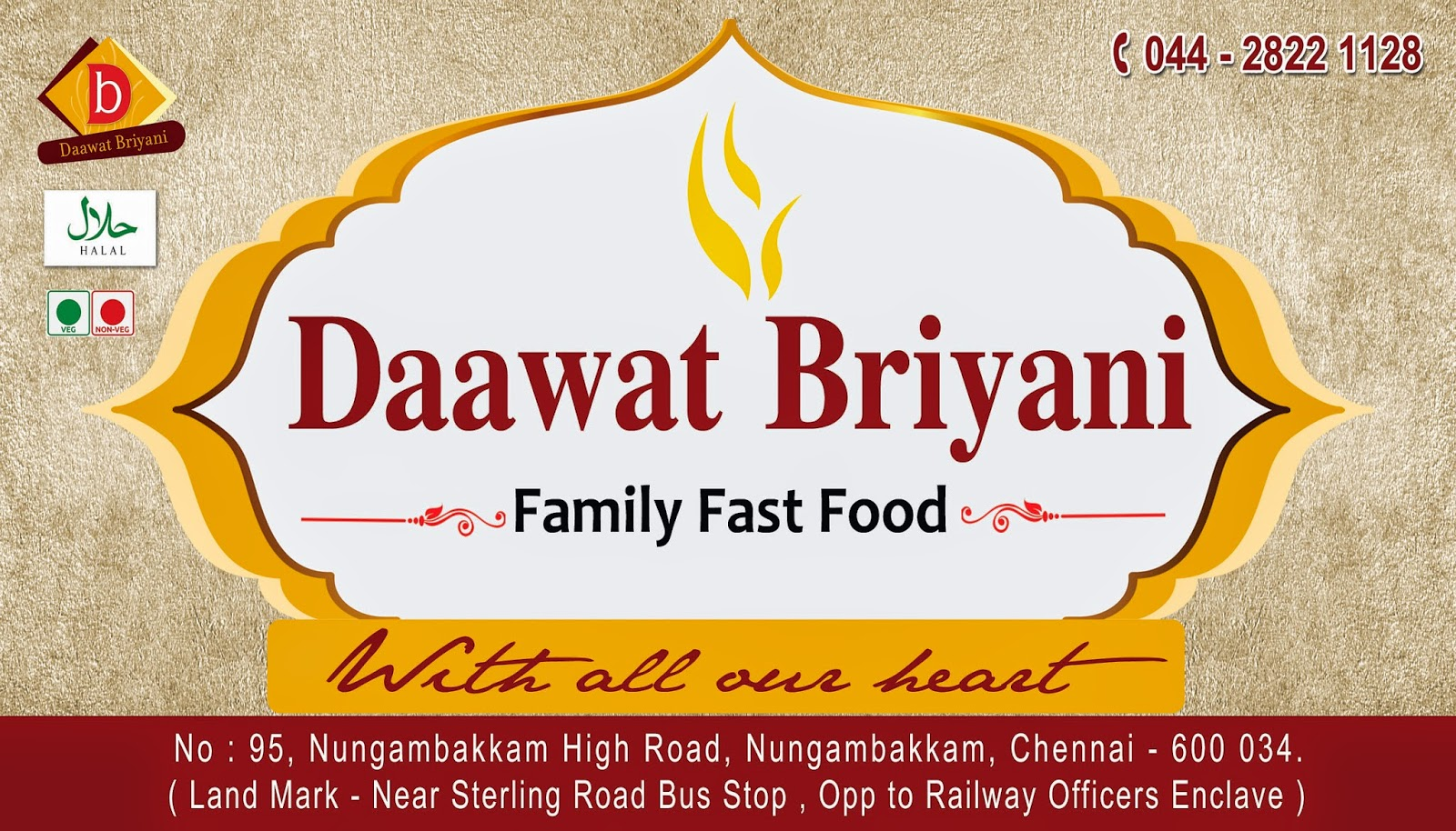 Picker Design Studio: Visiting Card Design _ Daawat Briyani _ Chennai