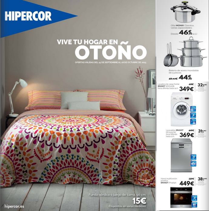 Catalogo hipercor moda hogar oto o 2015 - Fundas sofa hipercor ...