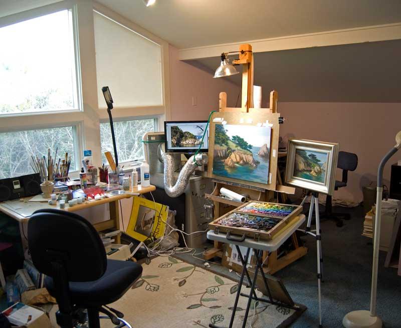 timon sloane luminous landscape paintings studio painting process. Black Bedroom Furniture Sets. Home Design Ideas