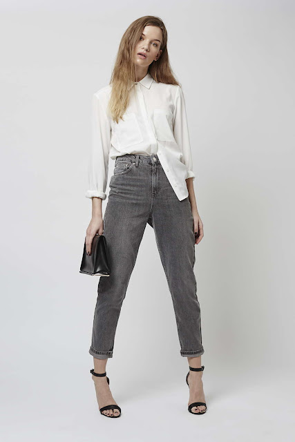 MOTO grey jeans, topshop grey jeans, grey mom jeans,