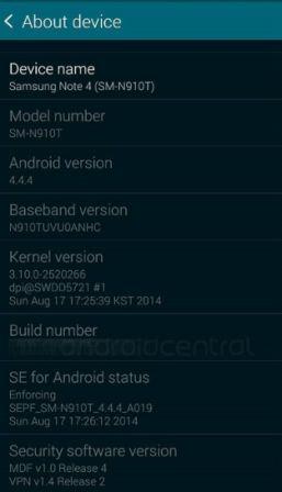 Inilah wujud dan beberapa spesifikasi Samsung Galaxy Note 4