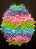 Tissue paper Easter egg craft