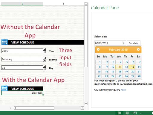 Calendar Pane
