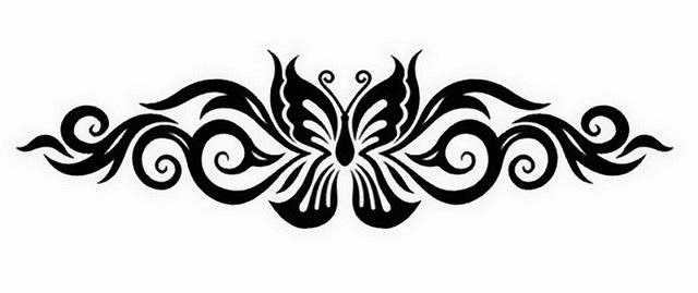 Armband tribal butterfly tattoo stencil