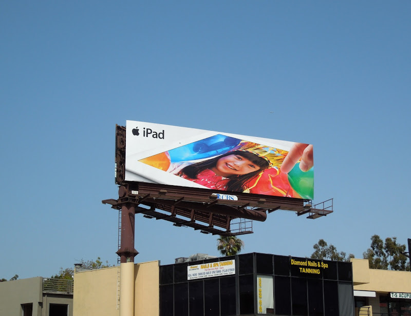 Apple iPad birthday girl billboard