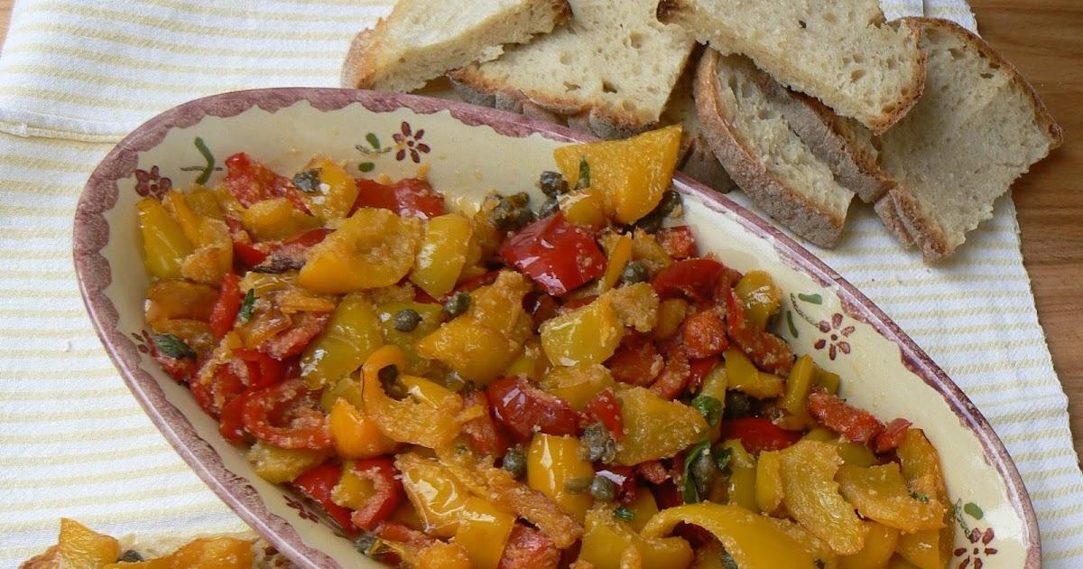 Cartoline dalla mia cucina peperoni alla poverella - Appunti dalla mia cucina ...