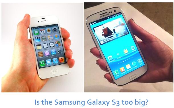 Galaxy S3 display size too Big handle