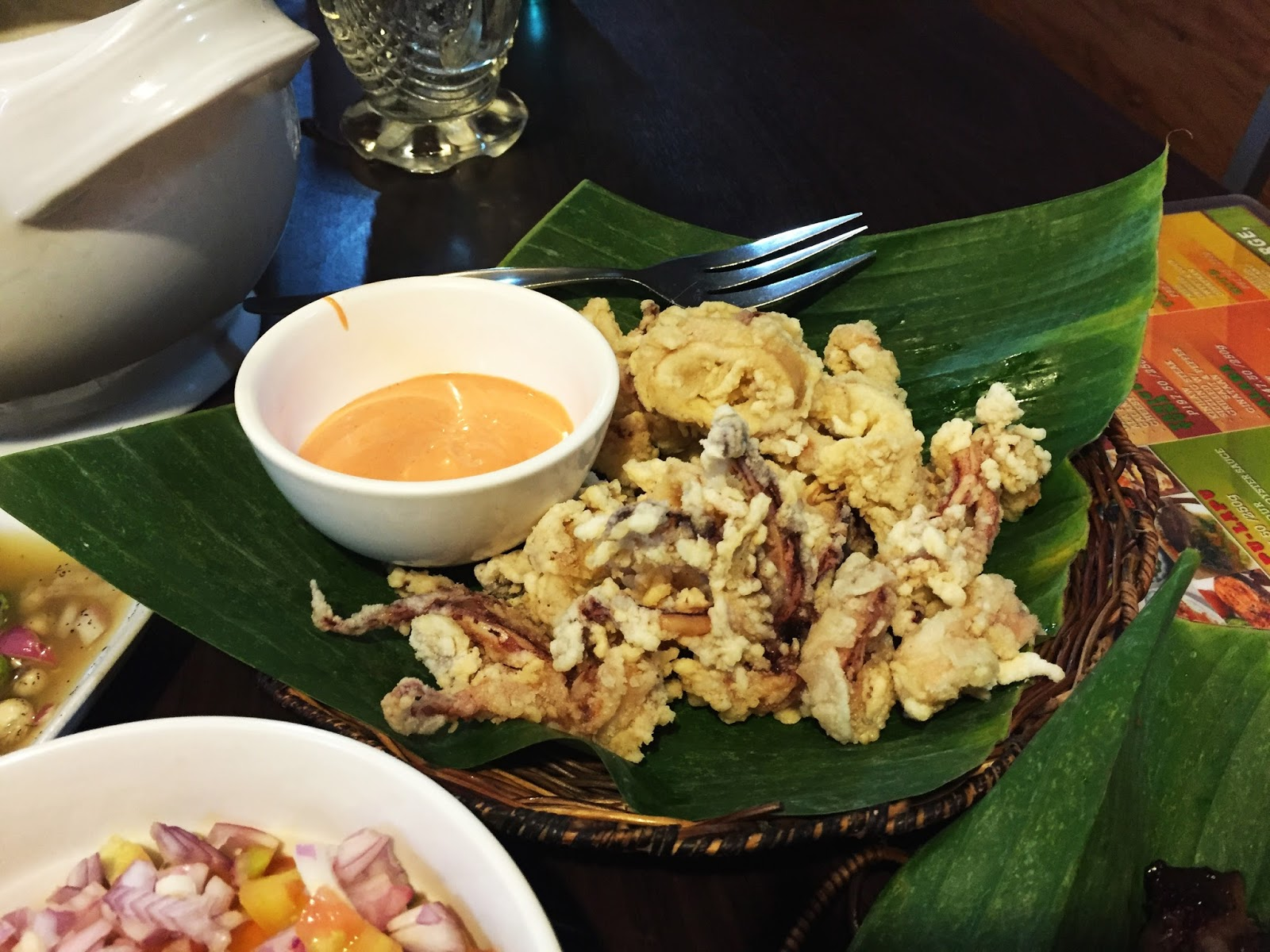 Filipino Food at dampa sa Tarlac Seafood Restaurant: Squid Calamares