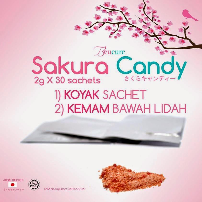 beucure sakura candy, rahsia cantik gadis jepun, kulit pinkish, cantik dengan bunga sakura