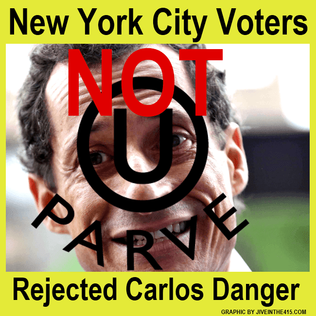 Failed NYC candidate for mayor Anthony Wiener aka Carlos Danger.
