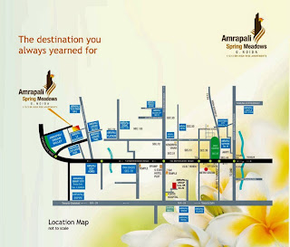 Amrapali Spring Meadows :: Location Map