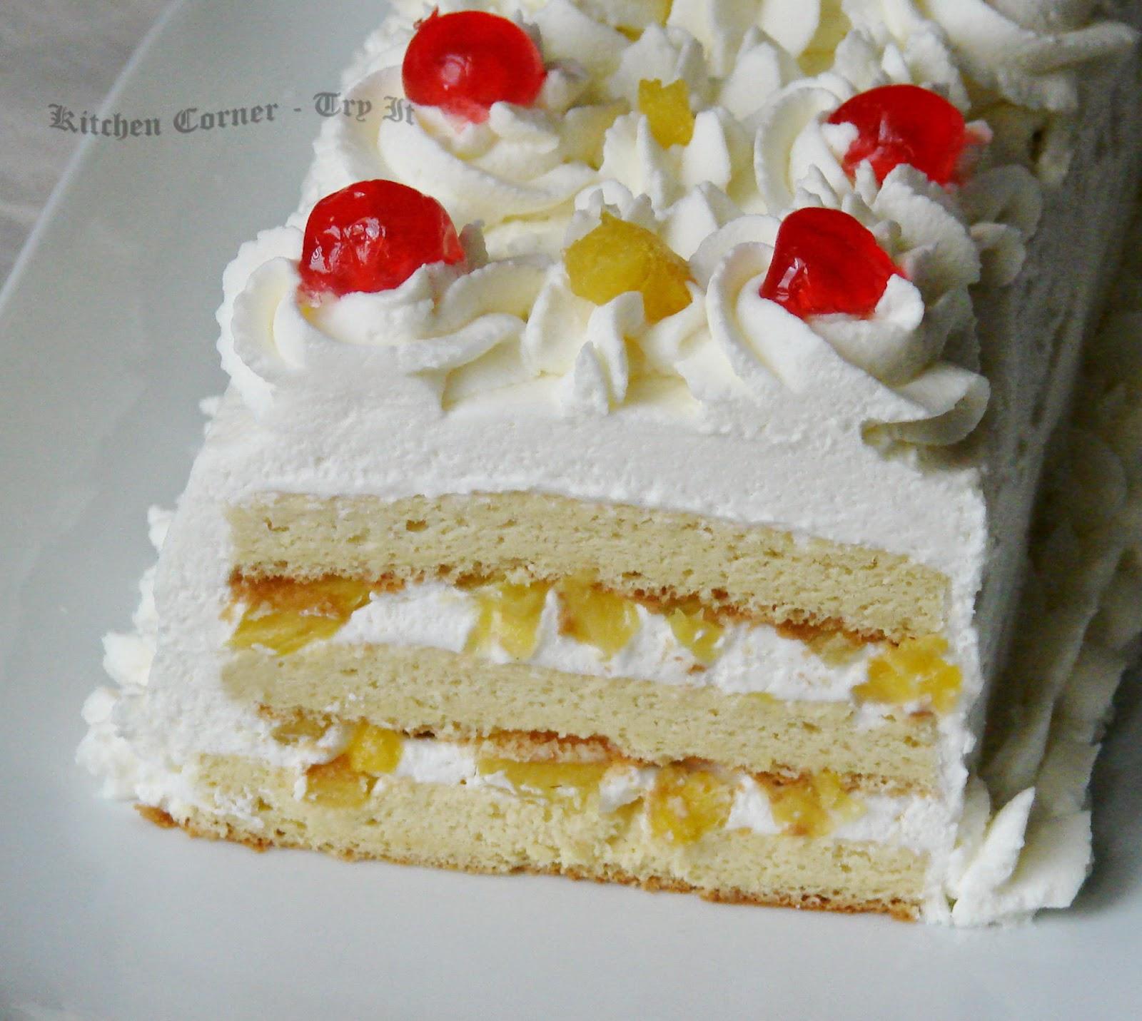 Pineapple Pastry Cake Recipe In Hindi