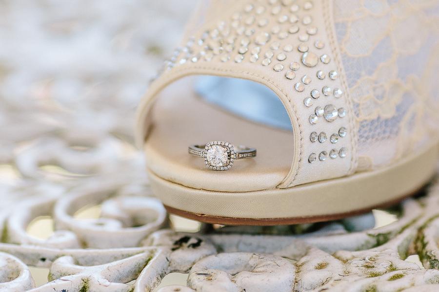 wedding, ring, shoe, detail, bride, bridal,fort valley, massee lane, garden, georgia, macon, wedding photography