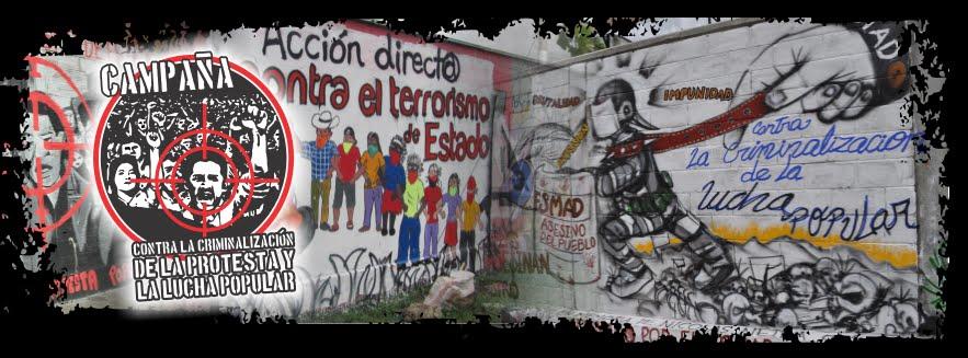 Campaña contra la criminalización de la protesta y la lucha popular