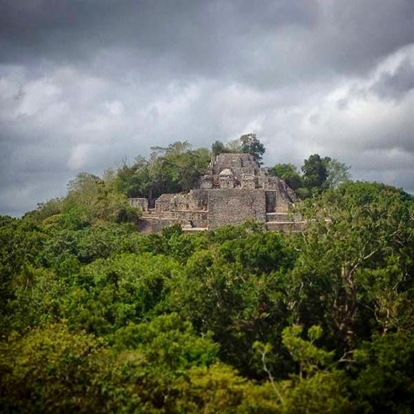 La ciudad maya de Calakmul en Campeche, México