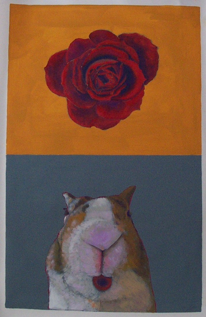 White Bunny With Rose 4