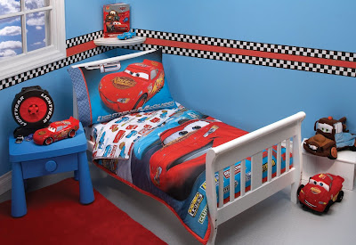 disney pixar cars bedding set 4 piece toddler