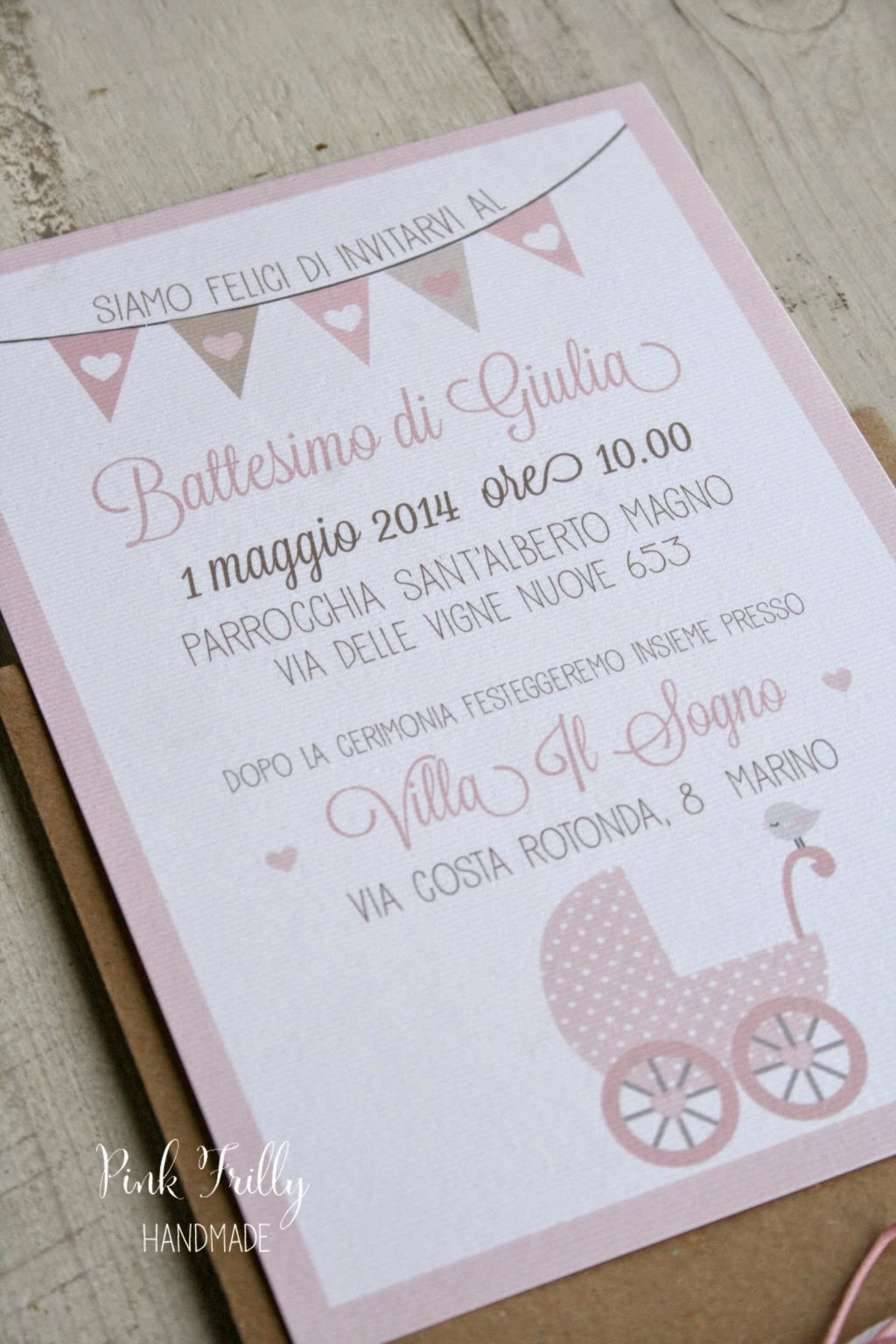 Souvent Pink Frilly: Un battesimo col cuore MG61