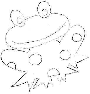 Manualidades - chiquitines -  Molde+rana