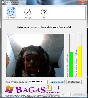Banana Screen Face Recognition 2