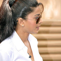 Sneha in white shirt