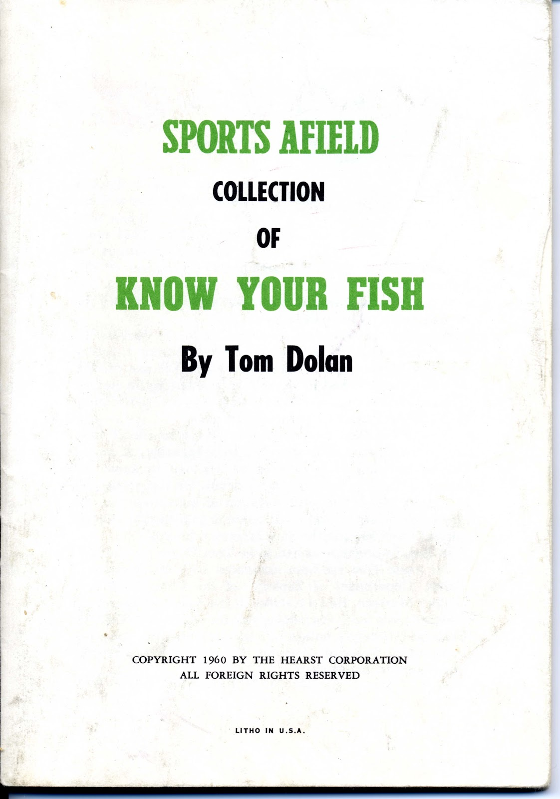 sports afield know your fish