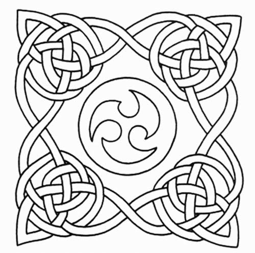 Celtic Knot tattoo stencil