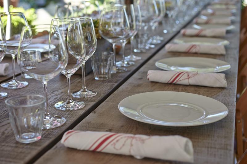 Della Fattoria Ranch Dinner alfresco dining