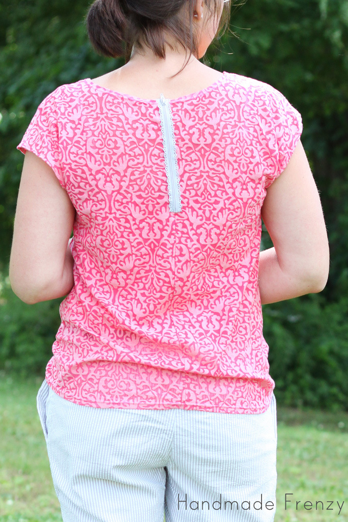 Knit Zippy Top Hack with Exposed Zipper - Pattern by See Kate Sew