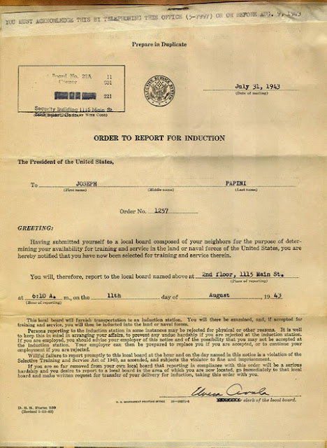 WWII Draft Notice