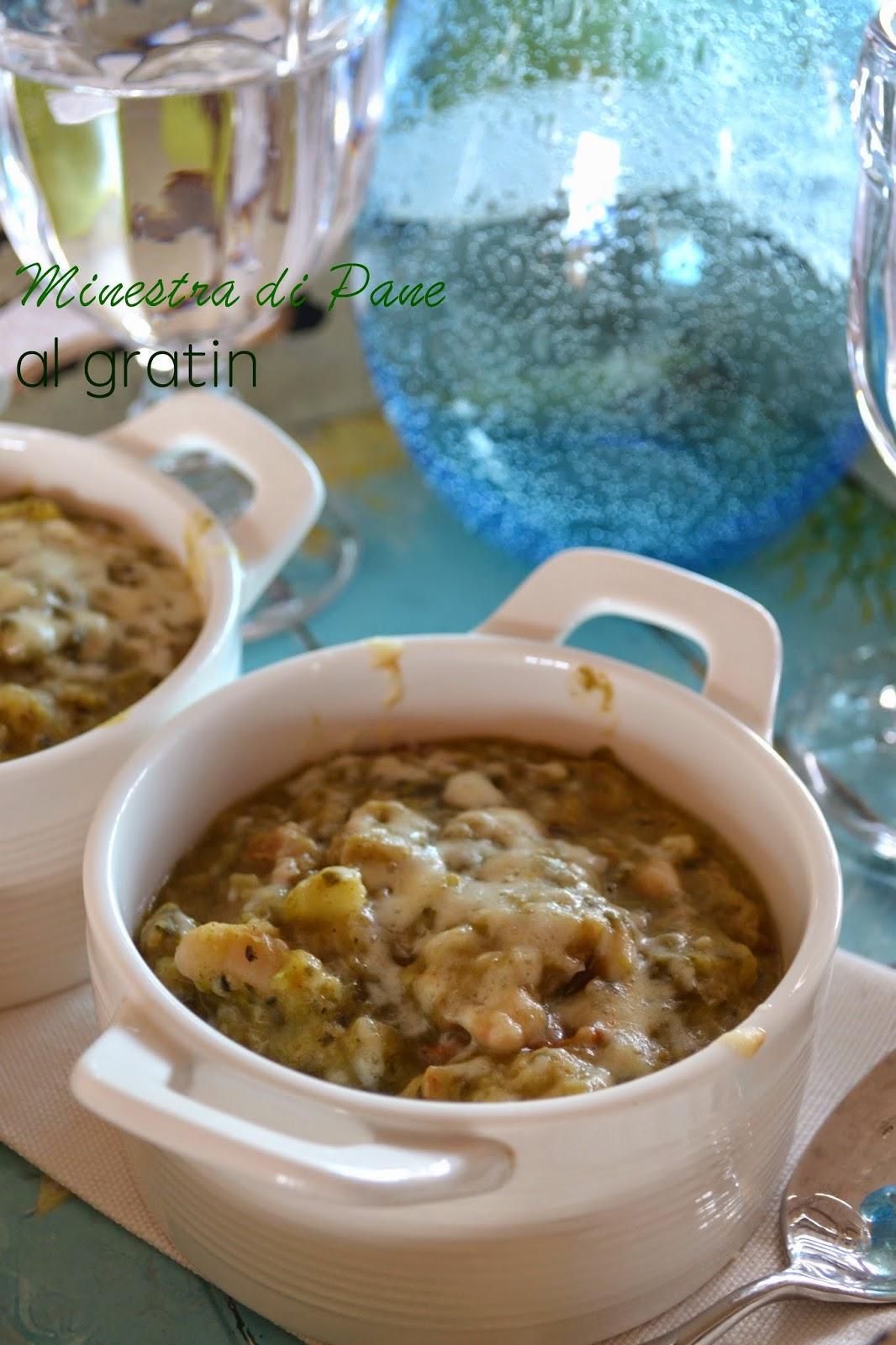 Ricetta minestra di pane al gratin