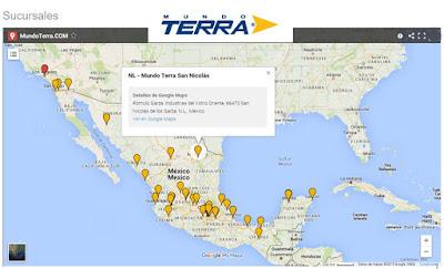 Sucursales Mundo Terra Mexico USA