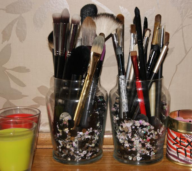 Monday make your own yankee candle brush storage the for Create your own candle holder