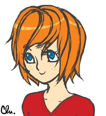 visage de Charlotte dessiné sous style manga