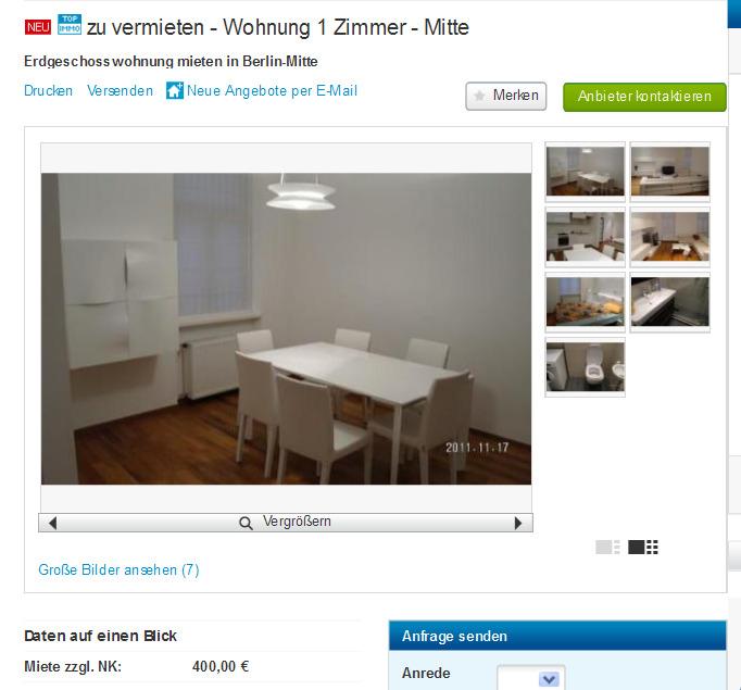 zu vermieten wohnung 1. Black Bedroom Furniture Sets. Home Design Ideas