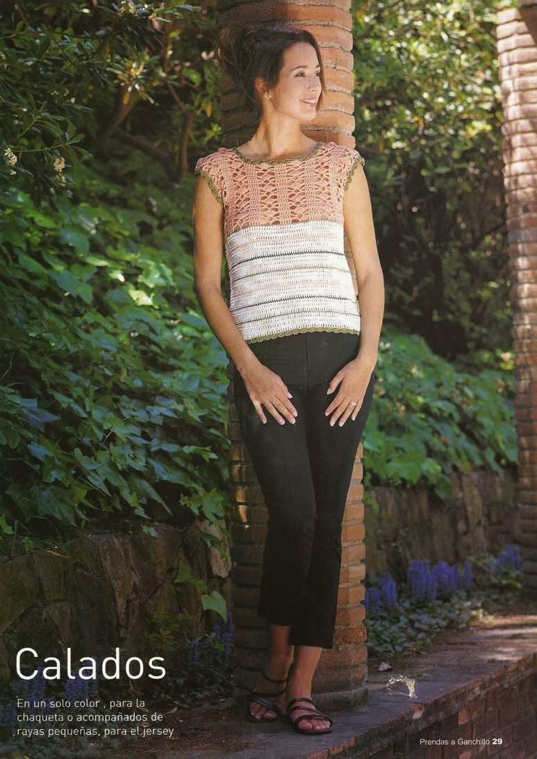 #14 Jersey o Blusa de Fantasía a Crochet