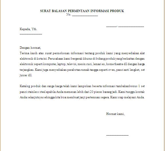 Contoh Balasan Surat Resmi Dalam Bahasa Inggris Tuku Briu