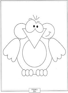 Desenho de Pássaro para pintar