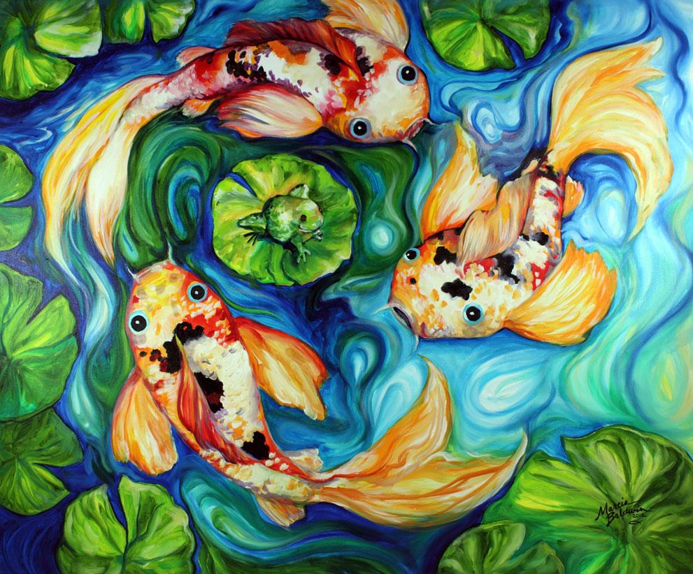 Daily paintings fine art originals by marcia baldwin for Koi artwork