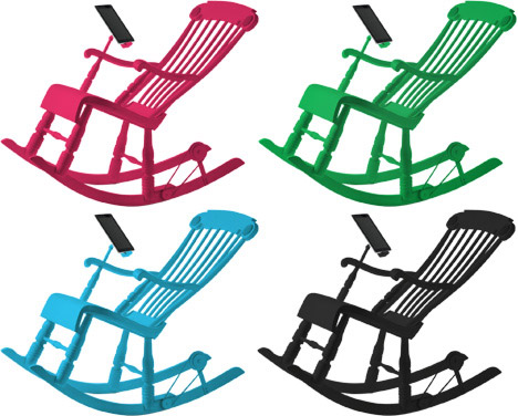ipad, iphone, rocking chair, chair, design, cool, awesome, 1300, price, limited edition, irock