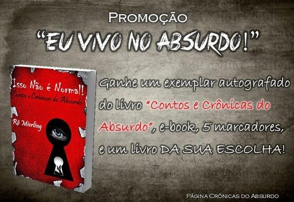 Promoção, sorteio, livro, CONTOS E CRÔNICAS DO ABSURDO